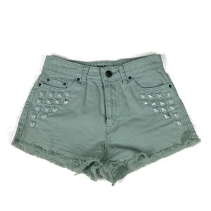 BDG Jean Shorts Dree Cheeky Cut Off Denim Studded